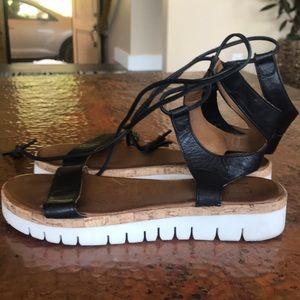 {Miz Mooz} Platform Sandals. Size 38. Once twice.